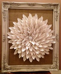 Elegantly antiqued framed book page wreath with by TheSouthernRoot, $55.00