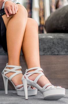 06ae999829076 Ever Loved and Favorite White Prada Strap Heel Stilettos