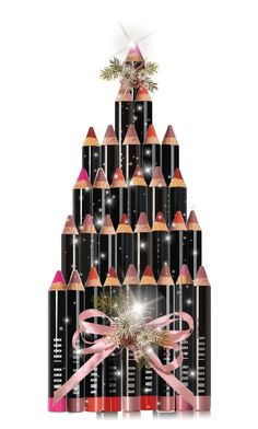 """The Bobbi Brown Christmas Tree"" by onesweetthing ❤ liked on Polyvore featuring art"