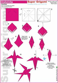 We've always wanted to build origami shapes, but it looked too hard to learn. Turns out we were wrong, we found these awesome origami shapes. Instruções Origami, Origami And Kirigami, Origami Dragon, Origami Fish, Origami Folding, Paper Crafts Origami, Useful Origami, Origami Design, Origami Stars