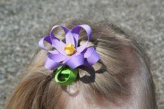 DIY Flower hair bow