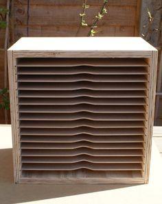 Handmade Bespoke Wooden A4 craft paper Storage
