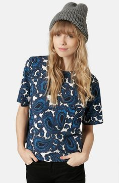 Topshop+Paisley+Pocket+Tee+available+at+#Nordstrom