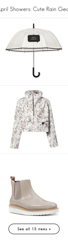 """""""April Showers: Cute Rain Gear"""" by polyvore-editorial ❤ liked on Polyvore featuring rainydays, accessories, umbrellas, umbrella, fillers, other, stuff, apparel & accessories, no color and kate spade umbrella"""