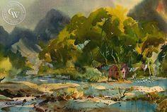California Watercolor Art by Robert Landry, American Artist – California Watercolor