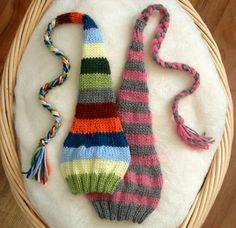 Stocking Hat KNITTING PATTERN newborn baby infant toddler child photograph prop cap. $3.95, via Etsy.