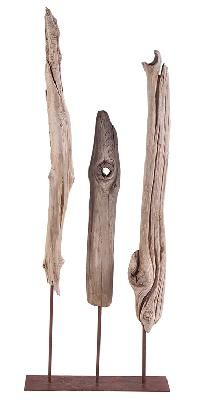 attente sculpture en bois flott et m tal driftwood art on. Black Bedroom Furniture Sets. Home Design Ideas