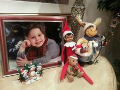 This Elf on the Shelf will fit right in with the family. #elfontheshelf #elf #christmas #figures #collectible