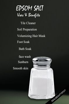 Benefits and uses of Epsom Salt for beauty and home