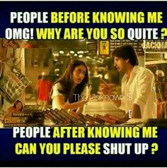 Quite Shut up Love people quotes Latest Funny Jokes, Funny School Jokes, Very Funny Jokes, Really Funny Memes, Funny Facts, Best Friend Quotes Funny, Funny True Quotes, Bff Quotes, Jokes Quotes