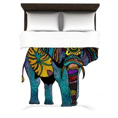 """Pom Graphic Design """"Elephant of Namibia"""" Woven Duvet Cover from KESS InHouse WANT SO BAD!!!!!!"""