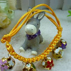 Creative Adjustable Length 18-32CM Dogs Cats Collar with 5 Bells Pet Accessory -- BuyinCoins.com