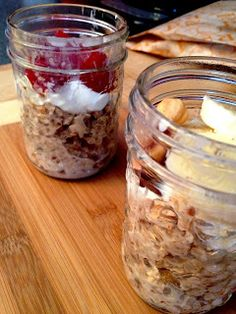 Gruau sans cuisson Oatmeal, Brunch, Pudding, Breakfast, Desserts, Food, No Bake Oatmeal, Snacks, Recipes