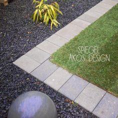 SD KERT - kertépítés: kertburkolás és kertépítés, kert, kerti burkolatok kialakítása, burkolat-tervezés, térkő lerakása, térkövezés, gumiburkolat, tipegő és kültéri faburkolat Stepping Stones, Retaining Walls, Outdoor Decor, Modern, Design, Home Decor, Pattern, Bamboo, Mirrors