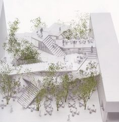 model - A network of staircases defines taiwan cafe by sou fujimoto Japanese Architecture, Architecture Drawings, Classical Architecture, Landscape Architecture, Architecture Design, Network Architecture, Sou Fujimoto, Landscape Model, Landscape Design