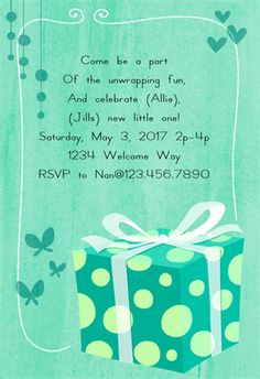"Baby Shower Invitations Free Templates Online Inspiration Polka Dotted"" Printable Invitation Templatecustomize Add Text And ."