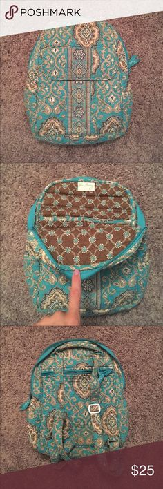 Vera Bradley mini backpack Mini backpack. Cute colors. Would work as purse or toddler backpack. Tons of life left! Vera Bradley Bags Backpacks