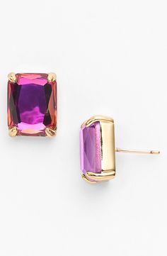 Gorgeous fuschia and gold Kate Spade bauble earring.