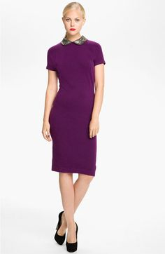 The back is so so precious. Freaking love this dress. MARC BY MARC JACOBS 'Mika' Embellished Collar Dress available at #Nordstrom