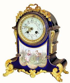 Porcelain clocks germany | Antique French or France Shelf China or Porcelain Clock