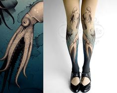 Octopuses footless tights *NEED*