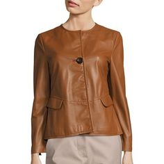 Piazza Sempione One Button Leather Jacket