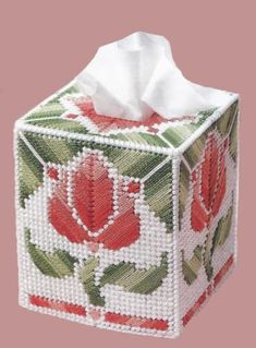 This looks ready to pick, a real stylish tulip for your home decor. Great way to keep a tissue handy for those nasty allergies. Fits a regular size boutique style tissue box. A NEW BOX OF TISSUES WILL BE INCLUDED! Made of 4-ply acrylic yarn over plastic canvas. Lovingly hand stitched in the USA. PLEASE FAVOR MY SHOP SO YOU DONT MISS OUT ON ANY NEW LISTINGS, I ADD SOMETHING NEW EVERY WEEK. CLICK ON THE RED HEART! THANKS FOR LOOKING. This listing is a Made to Order. I make items in the ord...