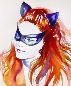 Catwoman Julie Newmar art
