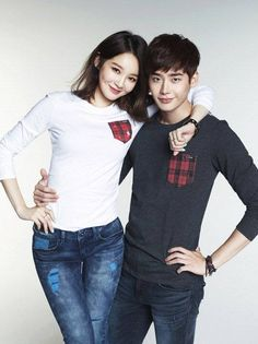 Lee Jong Suk and Davichi's Kang Min Kyung paired up as the new endorsement models for casual br
