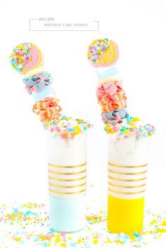 Party like it's your birthday - Candyfetti Shakes It's Your Birthday, Birthday Cake, Candy Kabobs, Sprinkles, Party, Blog, Design, Recipes, Birthday Cakes