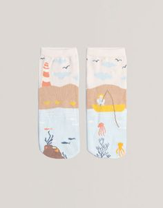 Short seascape socks - Socks - Accessories - United Kingdom