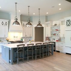 Big Open Kitchen With A Large Kitchen Island Caitlin Creer Interiors