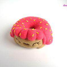 My Donut is ready!  This is Donna, a pink frosted donut girl!  Doesn't she looks yummy?    She's available in the shop!  www.droolwoolshop.com    #droolwool #foodcreatureartchallenge #pinkhair #pinkdonut #donutarttoy #felteddonut #donutdoll #handmadearttoy #artdoll #feltart #feltedarttoy #foodtoy #collectibletoy #toyartistry #kawaiidonut #kawaiiart #sprinkleddonut #donutlover #pinkfrosting #pinkhairdoll #cutetoy #cutedoll #toycollector