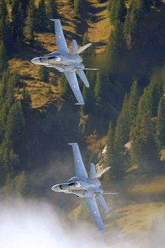 Swiss Air Force F-18C Hornet multirole fighter