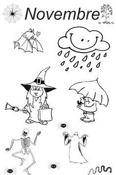 Thème Halloween mois d'octobre et novembre. - Activités pour la Grande section maternelle