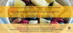 Hauptsache Gesund. Lecker und Gesund gehen bei uns Hand in Hand. http://www.kerngesund-foodrevolution.de/rezeptbox/ #kerngesund #esstypen #gesund #lecker #rezepte