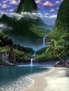 Waterfall Beach,  Looks like Shangri-la