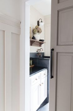 (paid link) Let's face it there's nothing worse than the smell of damp, wet dogs! Furthermore, dogs ... #dogbathingstation Dog Bathing Station, Moulding And Millwork, Painted Brick Walls, Mudroom Laundry Room, Sliding Door Hardware, Wood Brackets, Door Accessories, Southern Homes, Cabinet Styles