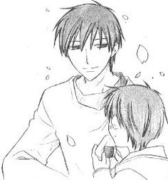 Fruits Basket, Kyo with his son.
