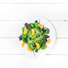LUNCHTIME😜💕 Wij lunchen met deze frisse Baby Boerenkoolsalade met muntdressing (lente proof)💪🏻🎉 Recept staat online🎈Laat ons weten wat je er van vindt!!👇🏻 Dikke liefs