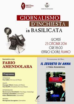 """notizie lucane, basilicata news: Presentazione del libro """"Il segreto di Anna"""" di Fa..."""