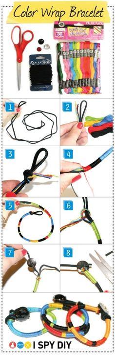 DIY color wrap bracelet