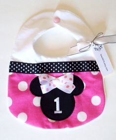 Minnie Mouse Birthday Bib