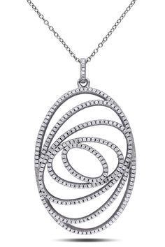 Gallery 10 3.87ct Cubic Zirconia Silver Pendant - Beyond the Rack
