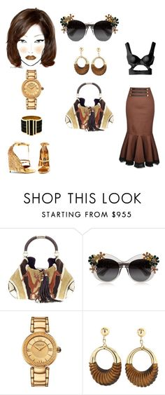 """#badBlood"" by atlienfashioned ❤ liked on Polyvore featuring Gucci, Dolce&Gabbana, Versace, Vintage, Alexander McQueen, Tom Ford and M.A.C"
