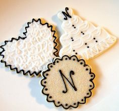 Wedding Cookie Favors Cake Heart Monogram