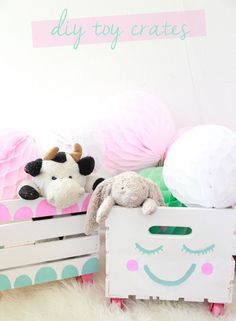 DIY toy storage crates nursery