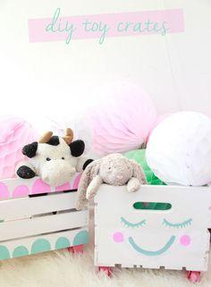 DIY toy storage crates nursery