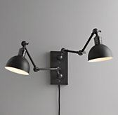 double swing-arm tipton sconce black $229Special $179
