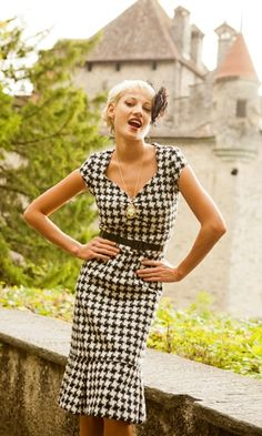ShabbyApple.com Estate Dress. #Houndstooth heaven!
